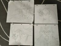 SET5 Jojo's Bizarre Adventure Anime Genga Set for Cel x4 Animation Art OVA JOJO