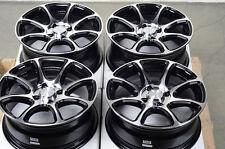 15 4x100 Black Rims Integra Mini Cooper Aerio Corolla Mirage Toyota Echo Wheels