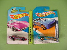 Lot of 2 Hot Wheels Cars '69 Corvette 2011 Nitro Doorslammer New in Package