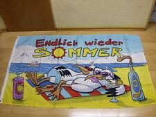 Fahnen Flagge Endlich wieder Sommer - 90 x 150  cm