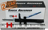 2 NEW FRONT SHOCK ABSORBERS FOR RENAULT SCENIC II 2003 GH-353955K