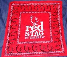 Jim Beam Red Stag - Deer Antler Logo Bandana....Red, White & Black....NEW