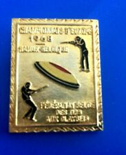 "#0231#  Insigne  ""Championnat d'Europe Federation belge des Tirs aux Claybers"""
