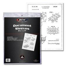 Pack of 100 Sleeves BCW 8½X11 Document Sleeves Toploaders (#861)