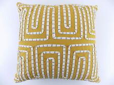 Martha Stewart $60 Yellow  18 X 18 Square Decorative Pillow  M05