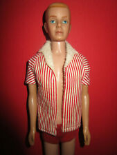 B1230)RARER ALTER BARBIE FLOCKED HAIR KEN #750 MATTEL 1961 ALTE ORIGINALKLEIDUNG