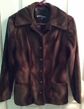 Betsey Johnson Fitted Brown Coat Jacket Size Small