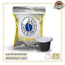 200 Cialde Capsule Caffè Borbone Respresso Miscela ORO e compatibile Nespresso