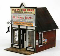 BANTA 2120 HO HON3 DUNCAN'S BOOTS Model Railroad Building Wood Kit FREE SHIP