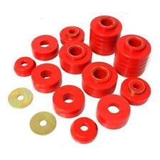 Energy Suspension Body Mount Set 4.4107R; Red Polyurethane for F-Series Trucks