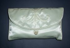 Satin Travel Slippers Folded In Satin Pouch Envelope Never Worn Small Vintage