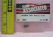 ASSOCIATED HOBBY R/C RADIO CONTROL CAR #6581 carbide diff balls 3/32 PARTS