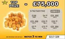6 faux Blague loterie à gratter scratchcards (design 6)