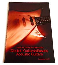 TOKAI GUITAR CATALOGUE 1998 JAPAN BOOK Electric Acoustic Bass Catalog Talbo LS