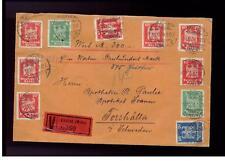 1926 Hochst Germany Registered cover Sweden Wax Seals