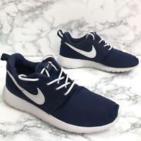 Nike Roshe One UK4 EU36.5 23.5cm Blue Womens Unisex Trainers Running Shoes VGC