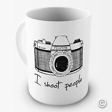 I Shoot People Camera Photography Novelty Funny Mug Tea Coffee Gift Office Cup