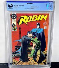 Robin #1 CBCS 6.5! 1st Print! Batman Cover! 1991! Not CGC!