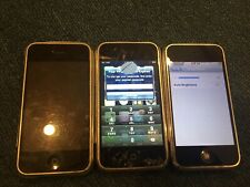 3 x Apple iPhone 2G 1st Gen - 4GB - Black (AT&T) A1203 (GSM) -  Broken AC566