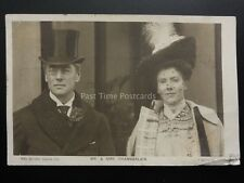 Political: Mr & Mrs Chamberlain c1904 Real Photograph Postcard Pub by Rotary