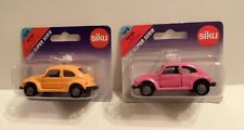 "SIKU VW Beetles LOT OF 2: SUPER SERIE (1) No. 1078 ""Hot Pink""-RARE (2) Orange"