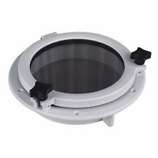 SEAFLO 21cm Boat Circle Round Porthole Window White ABS Plastic Trim Port Hole