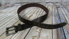 Haggar Clothing Brown Genuine Leather Belt Men's Size 34