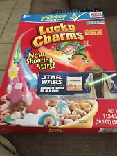 Lucky Charms Gluten Free Cereal, 19.3 Oz  FAMILY SIZE 'Tis Is The Box Star Wars