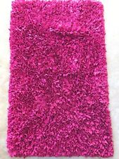 Shag Rug Pink Shaggy 34 by 54 inches 3' by 4' Roughly Girls Hot Pink