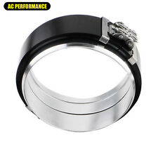 """Black Aluminum 3"""" 3.0"""" Flange Clamshell Clamp Turbo Intercooler Pipe 3 inch"""