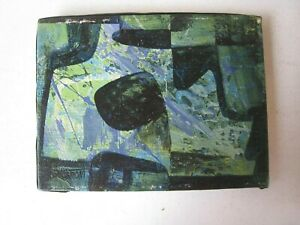 Magnus Engstrom Modernist Abstract Signed Painting Mid-Century Blues & Black
