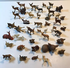 Vintage Miniature Lot of 40 Deer Figurines Plastic And Ceramic Other Materials