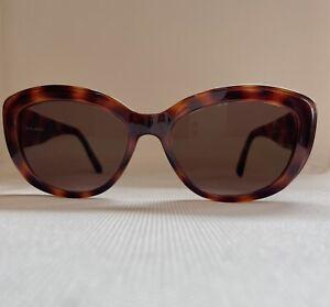 Sonnenbrille Damen Kunststoff-Rahmen Leo braun-meliert Brille groß Katze UV 400