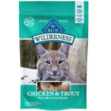 Blue Buffalo Wilderness CHICKEN/TROUT Cat Treats 2 oz Healthy Holistic Grain Fre