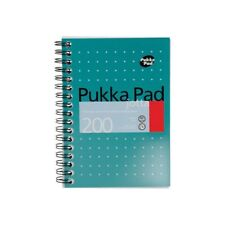 Pukka Pad Pocket A6 Notebook Wirebound Ruled & Margin 200 Pages Notes JM036