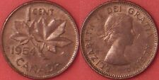 Brilliant Uncirculated 1954 Canada Shoulder Fold 1 Cent Maybe Toned