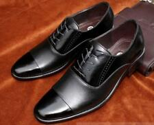 Mens Cap Toe Business Lace Up Formal Shoes Faux Leather Dress Shoes New