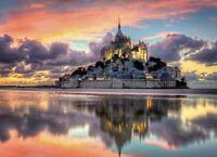 1000 TEILE PUZZLE, Le magnifique Mont Saint-Michel , CLEMENTONI 39367