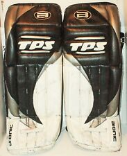 "TPS BIONIC LOUISVILLE 33"" - GOALIE SR LEG PADS ICE HOCKEY GOAL GEAR BLK/WHT USED"