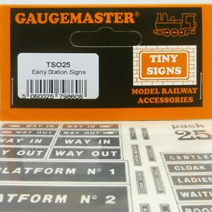 Gaugemaster Tiny Signs O Gauge Early Station Signs (TSO25) - Brand New