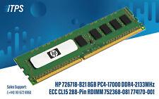 HP 726718-B21 8GB PC4-17000 DDR4-2133MHz ECC CL15 288-Pin RDIMM