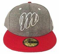 New Era Diablos Rojos del México 59Fifty Hat Grey/Red Mens Cap LMB Brand New