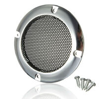 2PCS 2''inch Silver Circle Round Mesh Woofer Speaker Protective Grille + 4 screw