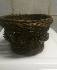 "Pinecone Christmas Basket 7"" H"