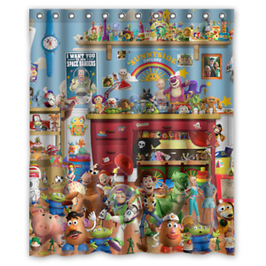 """Toy Story All Characters Custom Shower Curtain 60"""" x 72"""" Free Shipping"""