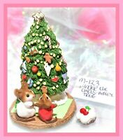 ❤️Wee Forest Folk M-123 Under the Chris-Mouse Tree Christmas RETIRED WFF❤️