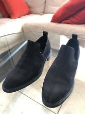COS Black Suede Slip-on Shoes. Block Heel. Hardly Worn. Great Condition. UK7.5