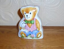 Very Nice Royal Worcester Fine Porcelain Teddy & Dog Design Moneybox