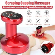 Electric Cupping Massager 9-Grade Scraping Therapy Body Massage Slim Machine Us