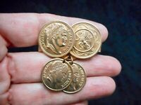 Authentic Vintage Gold Tone Sarah Coventry Coin Scarf Clip